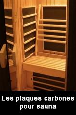 Plaque carbone 230 watts  74 x  49  cm pour cabine infrarouge