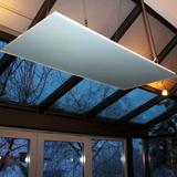 Radiateur infrarouge long blanc satiné mat Vitramo plafond 260 w