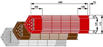 Grille de protection des lampes infrarouge céramique 200 watts pour le dos