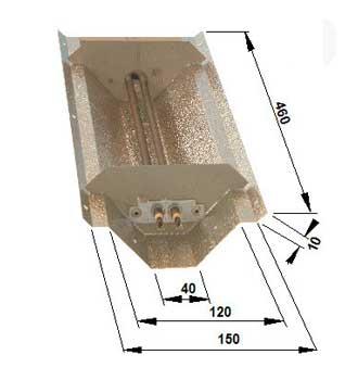 Réflecteur pour lampe infrarouge magnésium