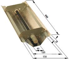Reflecteur pour lampe infrarouge céramique 200 watts pour les angles