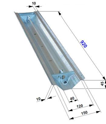 Réflecteur 750 watts angle pour lampe Philips Vitae