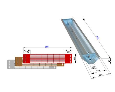Grille et réflecteur pour lampe infrarouge Philips Vitae